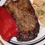 Простые вторые блюда: Бифштекс с перцем