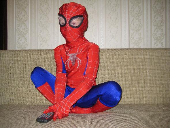 него маску человека-паука