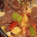 Простые вторые блюда из говядины: Гуляш с овощами