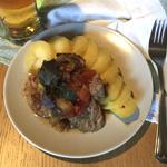 Свинина с овощным соте
