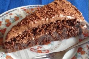 Трижды шоколадный бисквитный торт