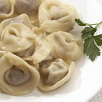 Вкусные и простые вторые блюда: Пельмени с зеленью