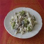 Рецепты для диабетиков: Грибной салат с капустой и топинамбуром