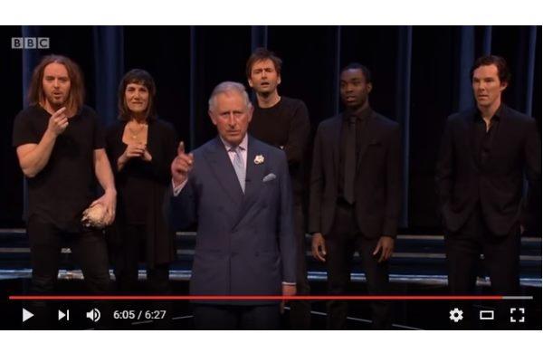 Вскетче по«Гамлету» сыграл принц Чарльз
