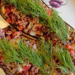 Вкусные и простые вторые блюда: Фаршированный баклажан