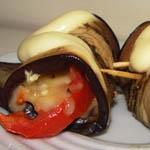 Вторые блюда из овощей: Рулетики из баклажанов