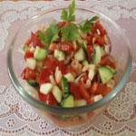 Рецепты для диабетиков: Овощной салат с креветками