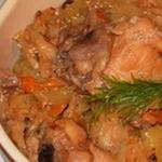 Простые вторые блюда из курицы: Курица с овощами