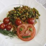 Рецепты для диабетиков: Фасоль и горошек с луком