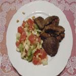 Рецепты для диабетиков: Печень с фруктовым салатом