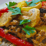 Простые вторые блюда из картофеля: Картофель с грибами и сыром